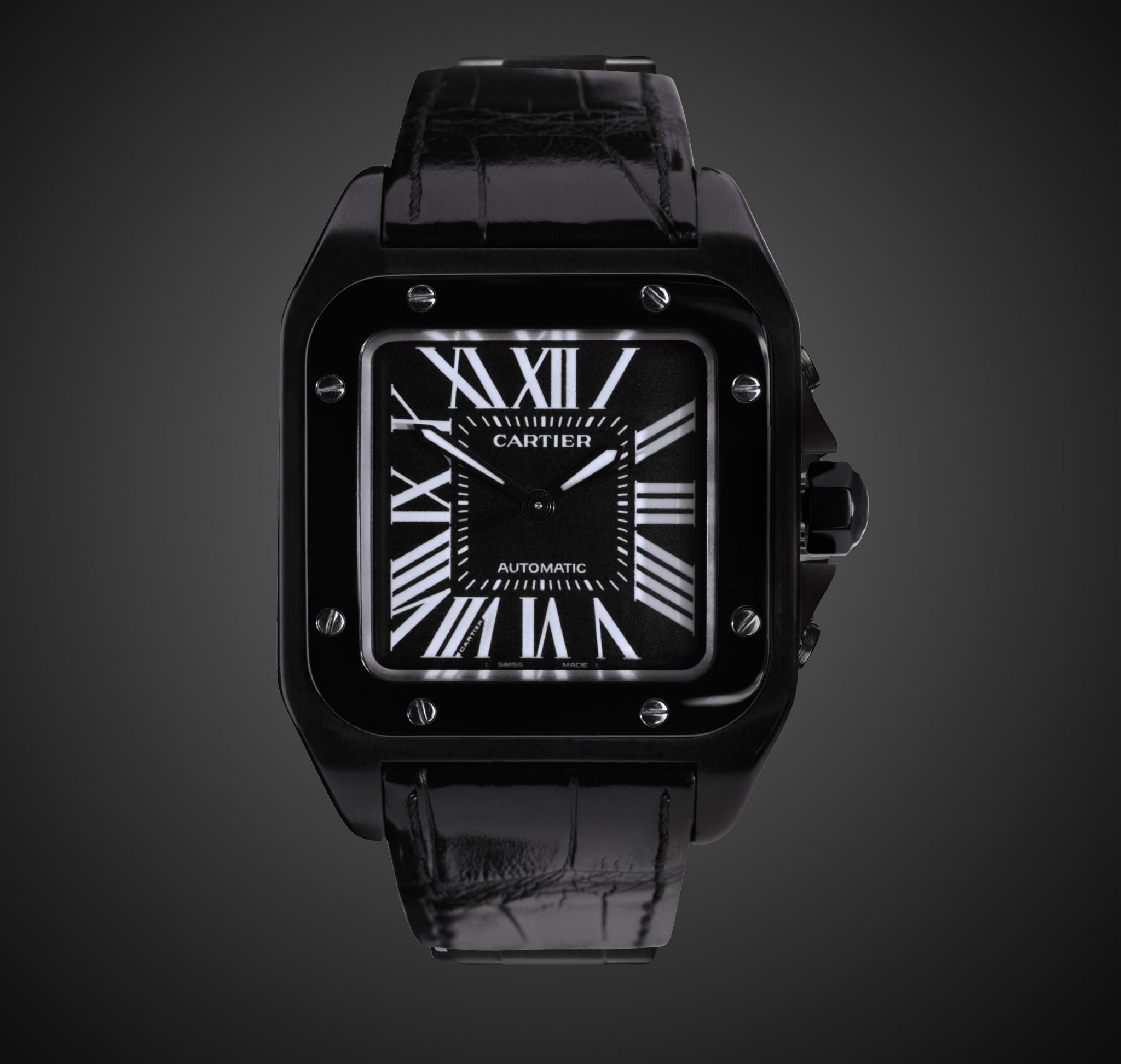 Cartier Santos Covert Titan Black