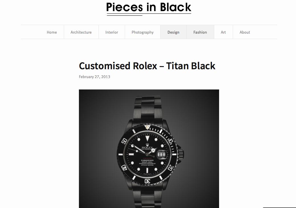 Titan Black Featured in Pieces of Black
