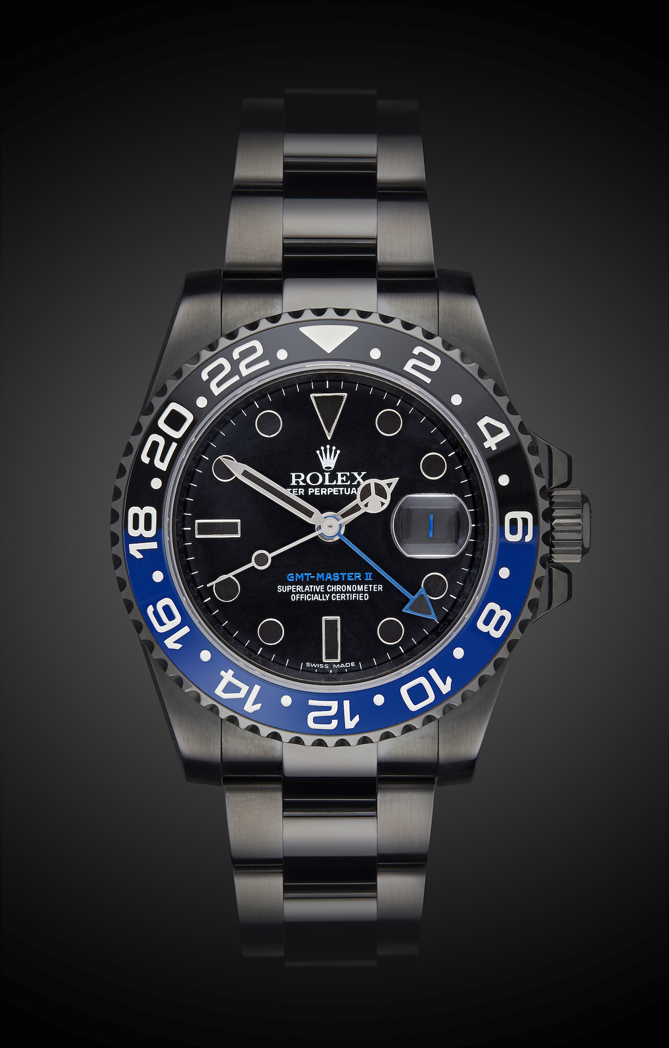 Rolex Gmt Master Ii Batman Titan Black