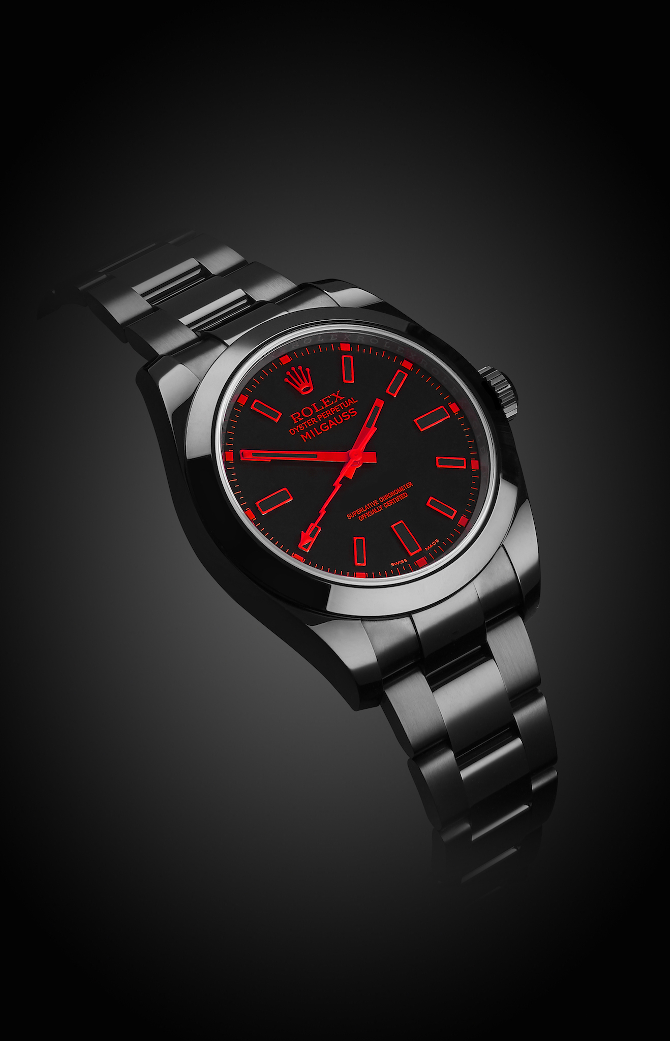 Rolex Milgauss Red Knight Titan Black