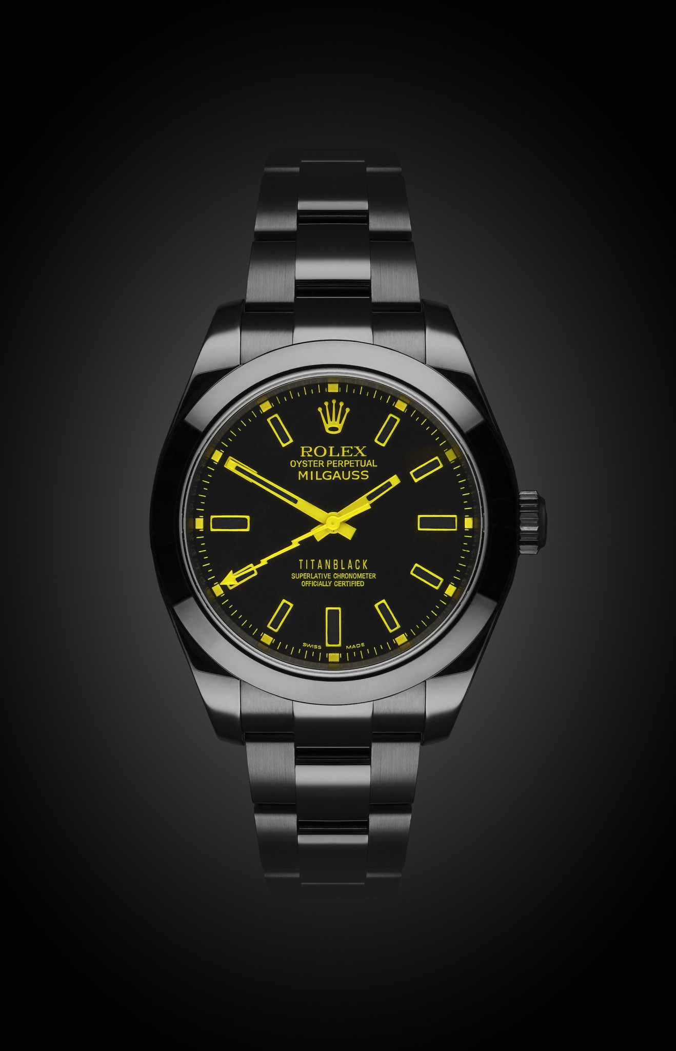 Rolex Milgauss Yellow Knight Titan Black