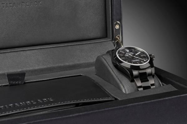 Titan Black Milgauss Revenge and custom Calfskin leather watch box and wallet