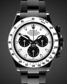 Rolex Daytona Monochrome Chronograph Titan Black Bespoke Design White DLC
