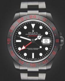Rolex Explorer II Triple Red Titan Black Bespoke Design London Hour House