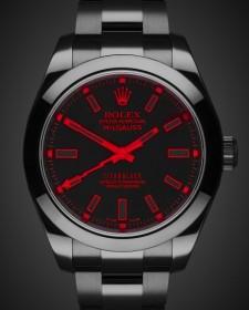 Rolex Milgauss Red Knight Black DLC Titan Black Bespoke Design