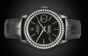 TITAN BLACK Rolex Datejust: Ladies BLACK DLC PVD ROLEX