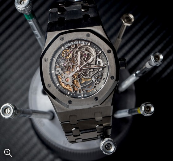 Titan Black Audemars Piguet Skeleton Royal Oak