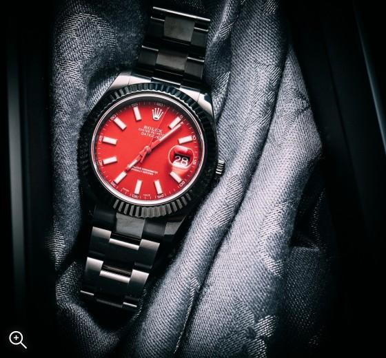 Rolex Datejust II: Rosso Corsa Titan Black DLC