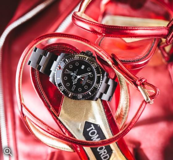 Titan Black PVC DLC Rolex Sea Dweller Double Red