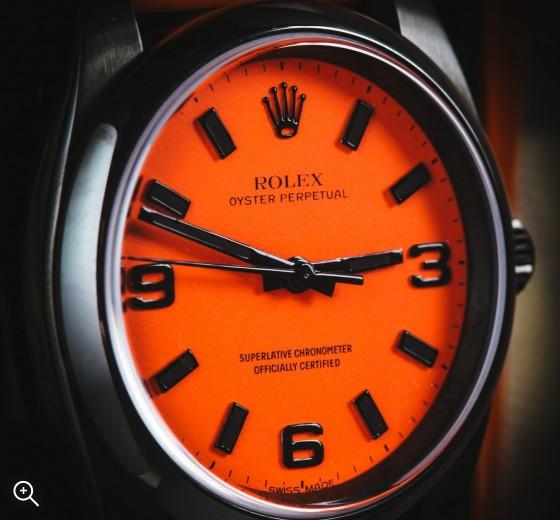 The Beach Collection: Neon Orange Titan Black Rolex