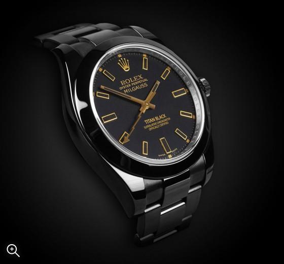 TITAN BLACK Rolex Milgauss: Oro