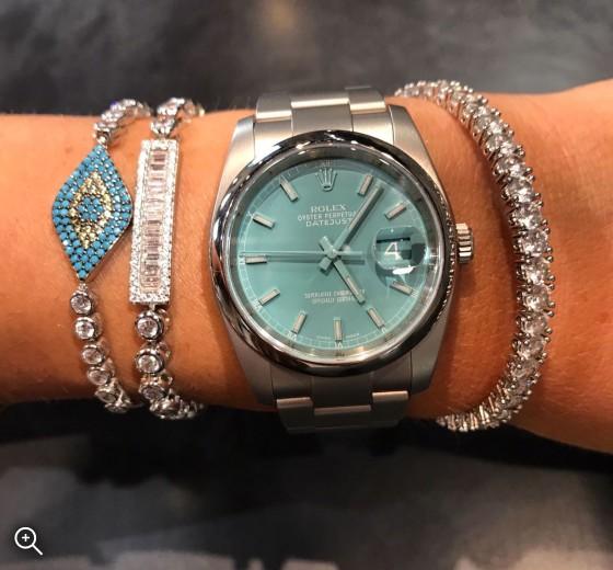 Titan Black Rolex Datejust Tiffany Blue London Bespoke