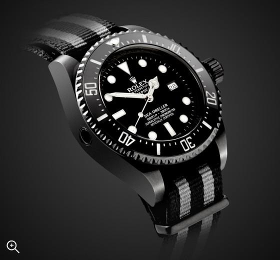 Titan Black DLC Rolex Deepsea: Fathom