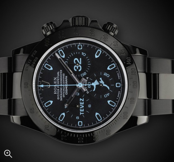Carlos Tevez Custom Titan Black Rolex Daytona