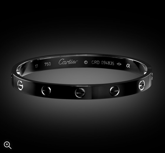 Cartier Love Bracelet Titan Black Black London