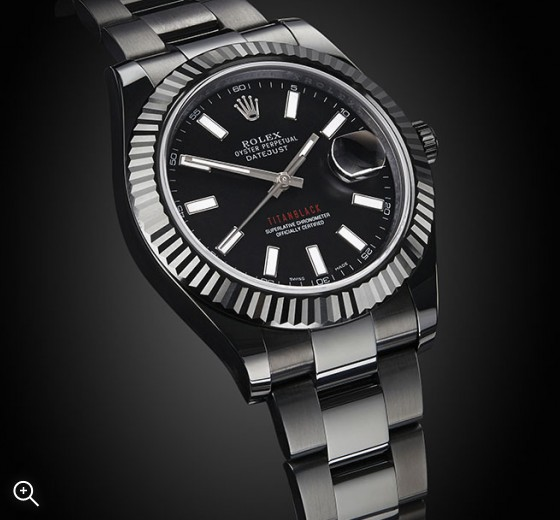 Titan Black Rolex Datejust II: White Baton