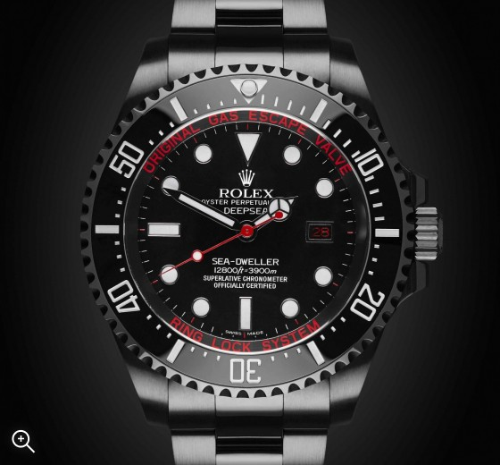 Rolex Deep Sea Deep Red Titan Black