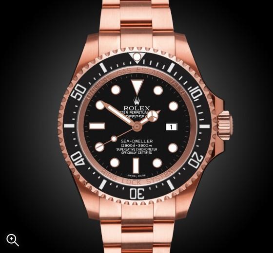 Rolex Deep Sea Rosé Oro - TBlack Rose Gold Coating