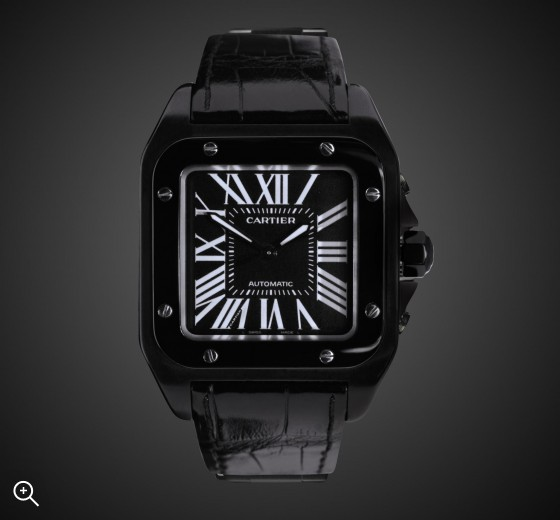 TITAN BLACK Cartier Santos (Covert) DLC BLACK ROLEX