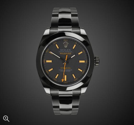 TITAN BLACK Rolex Milgauss (Amber) DLC BLACK ROLEX PVD