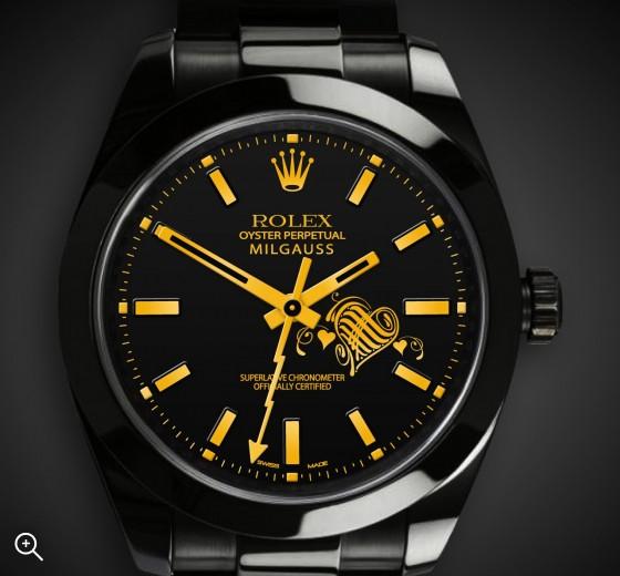 Rolex Milgauss Valentines Day Edition Titan Black