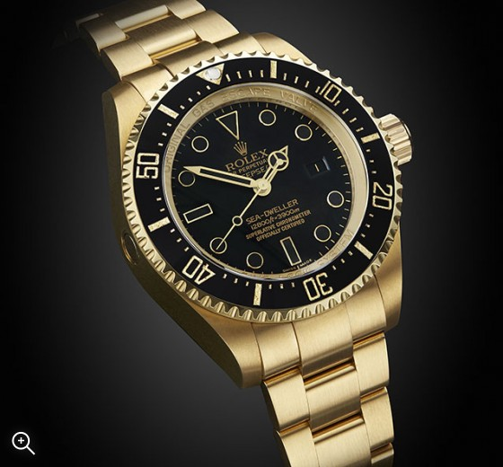 Rolex Deep Sea Gold Dlc Titan Black
