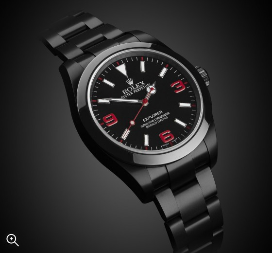 Rolex Explorer (Crush) DLC PVD BLACK ROLEX Titan Black Bespoke