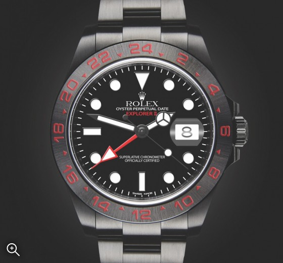 Rolex Explorer II Triple Red Titan Black Bespoke Design London Hour House