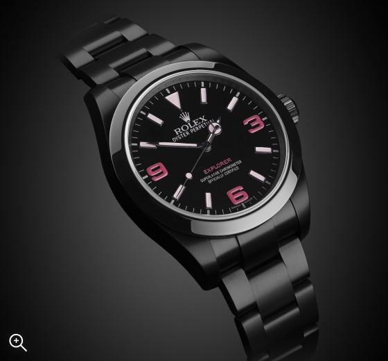 Rolex Explorer (Vale) DLC PVD BLACK ROLEX Titan Black
