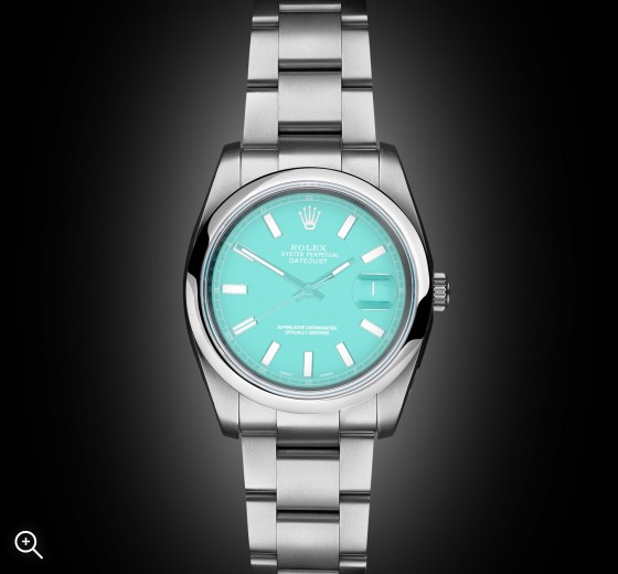 Titan Black Datejust Tiffany Blue London Bespoke