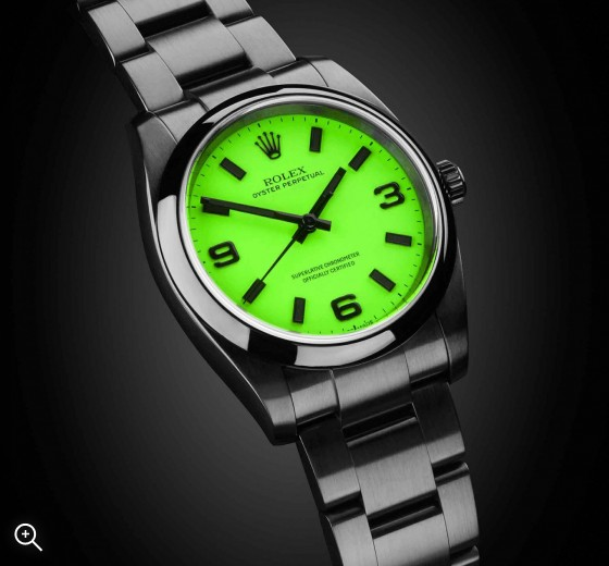 The Beach Collection: Neon Green Rolex Oyster Perpetual Titan Black