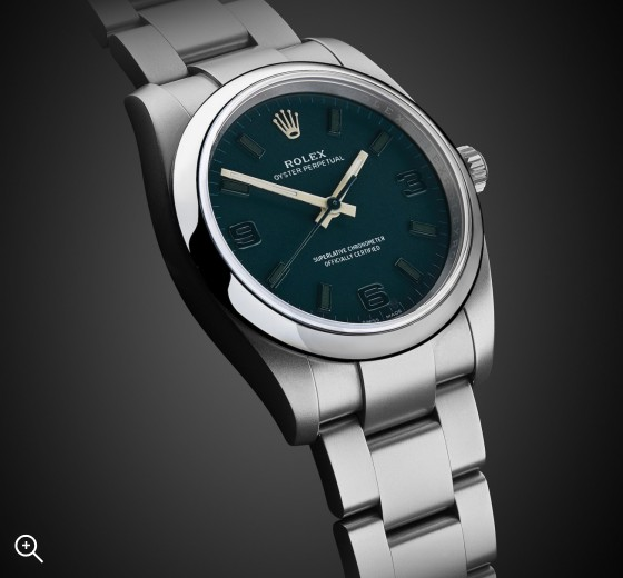 titan Black Oyster Perpetual Emerald London Bespoke