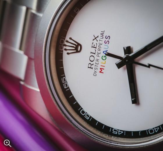 Rolex Milgauss Pride Titan Black MAB II Finish Bespoke Unique LGBT