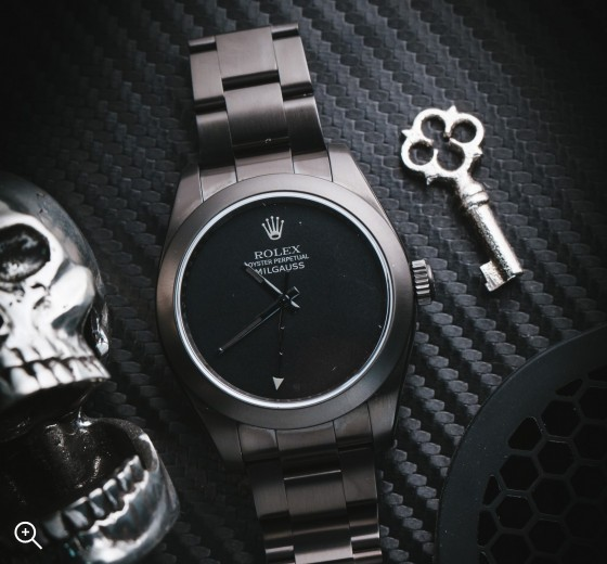Rolex Milgauss: Dark Knight DLC Coating Titan Black No Markers