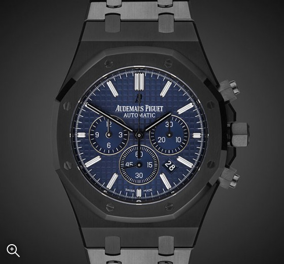 Titan Black Audemars Piguet Blue Royal Oak