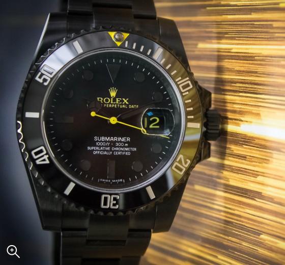 Titan Black Rolex Submariner Date Halo DLC Coating