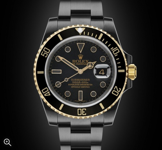 Black DLC Rolex Submariner: Oro