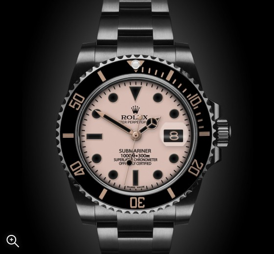 Titan Black Rolex Submariner Date Blush London Bespoke Watches