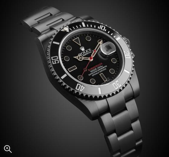 Rolex Submariner Date Titan Black Bespoke Watch PVD Black Coating DLC