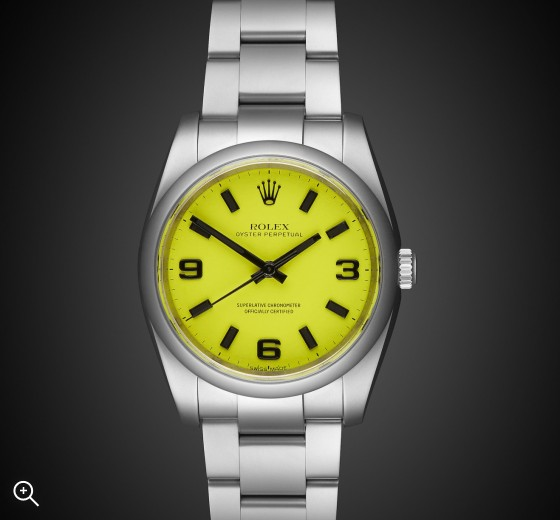 Rolex Oyster Perpetual Beach Collection Neon Yellow MAB II Finish Titan Black Bespoke Design Own London