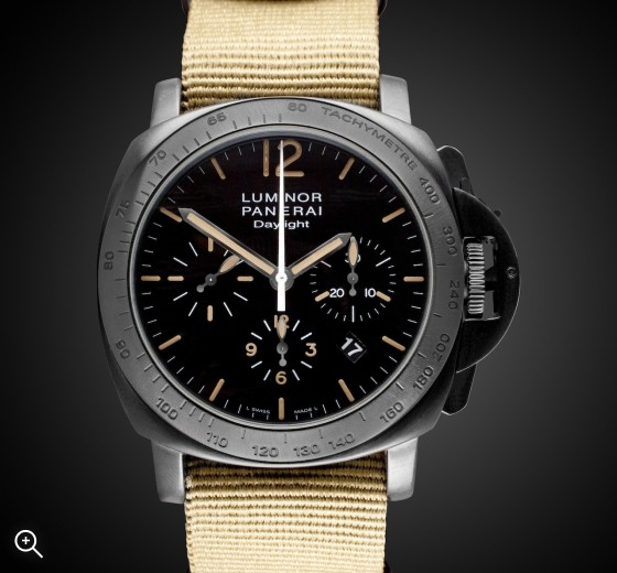 Panerai Luminor Daylight: Desert Storm Stealth - DLC Coating