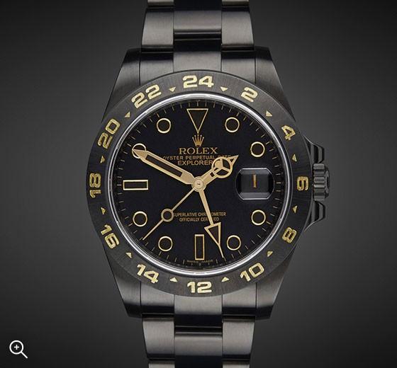 Titan Black Rolex Explorer II: Oro
