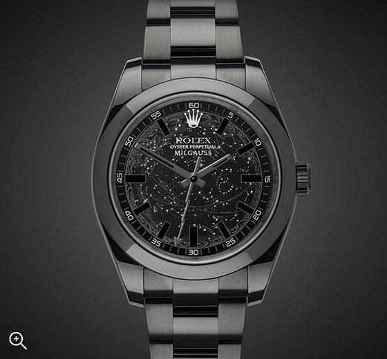 Titan Black DLC Rolex Milgauss: Celestial
