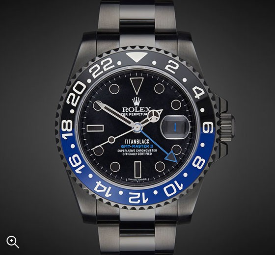 Titan Black DLC Rolex GMT II Batman