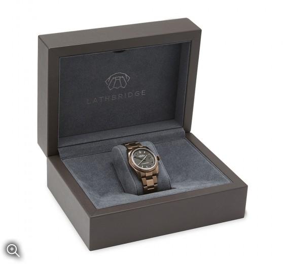 Special Edition Lathbridge by Patrick Cox Watch Box Titan Black