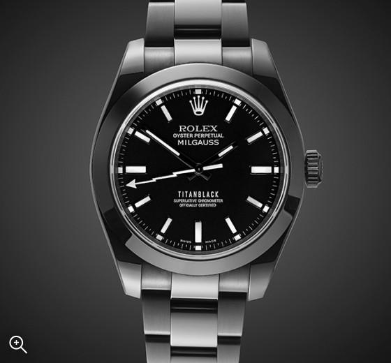 TITAN BLACK Rolex Milgauss:Nero