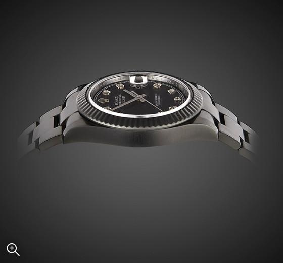 TITAN BLACK ROLEX DATEJUST II DLC PVD BLACK ROLEX