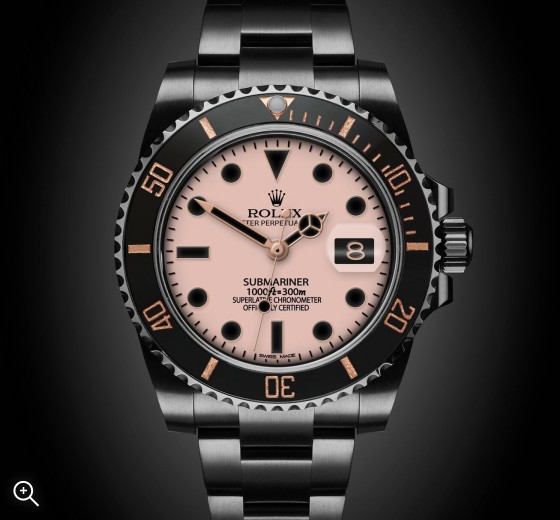 Titan Black Rolex Submariner Date Blush London Bespoke Watches