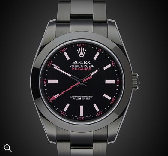 TITAN BLACK Rolex Milgauss (Vale) DLC ROLEX BLACK PVD