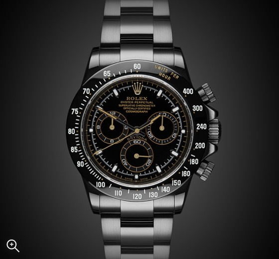 TITAN BLACK Rolex Daytona (Double Index) DLC BLACK ROLEX